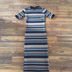 TOPSHOP striped bodycon Striped midi length bodycon Topshop Dresses Midi