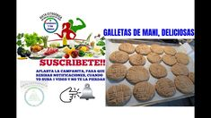 GALLETAS DE MANI, DELICIOSAS Dog Food Recipes, Keto Recipes, Mani, Cookies, Desserts, Ketogenic Recipes, Diet, Crack Crackers, Tailgate Desserts