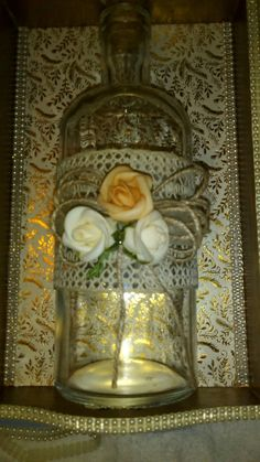 Sticlă decorată  #handmade