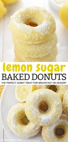 Lemon Recipes, Donut Recipes, Brunch Recipes, Baking Recipes, Sweet Recipes, Fast Dessert Recipes, Pie Recipes, Cookie Recipes, Beignets