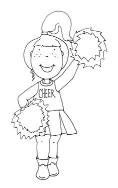20 Best cheerleading coloring pages images in 2014