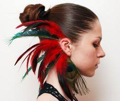 Feather Ear Cuff Boldly by Njuu on Etsy. $31.00, via Etsy.