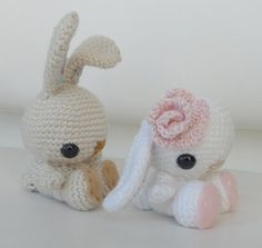 Day 25:  Crochet Spring Bunny by Stephanie of All About Ami  Free Pattern:  http://blog.makezine.com/craft/craft_pattern_spring_bunny/  May 2013 #TheCrochetLounge #Amigurumi Pick