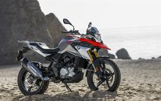 Download wallpapers BMW G 310 GS, 4k, offroad, 2018 bikes, new G 310 GS, german motorcycles, BMW