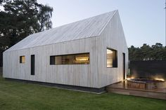 Fun house: Strom Architects' New Forest party annexe Barn House Conversion, Shed Homes, Tiny Homes, Timber Roof, Wood Architecture, New Forest, House Extensions, Big Houses, Modern Buildings