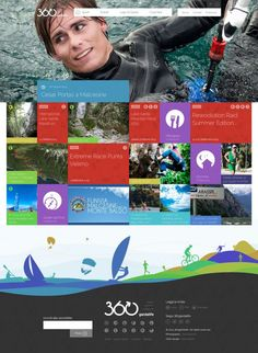 The portal for sports on Lake Garda - 360gardalife - Webdesign inspiration www.niceoneilike.com
