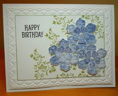 Blue Flowers for Jane by susanbri - Cards and Paper Crafts at Splitcoaststampers