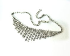 Vintage Clear Rhinestone Necklace Choker 16 by MargsMostlyVintage, $22.00