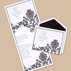 Dashing in Damask Wedding Invitation