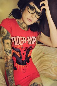 Sleeve and Spider-man tee