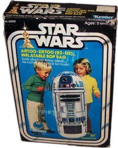 KENNER: 1977 Star Wars R2-D2 Inflatable Bop Bag #Vintage #Toys