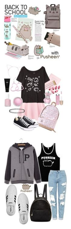 """Winners for Back to School With Pusheen"" by polyvore ❤ liked on Polyvore featuring Pusheen, Ohh Deer, Converse, Jane Iredale, Essie, MAC Cosmetics, Witchery, Paper Mate, STELLA McCARTNEY and Topshop"
