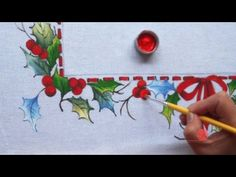 Moldura Natalina em Tecido (Natal 1) - YouTube