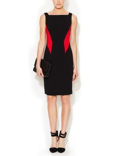 Roby Colorblocked Sheath Dress from Dress Shop: Party Dresses on Gilt