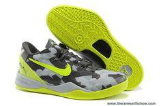 Mens 555268-001 GC Sport Grey Volt-Pure Platinum Nike Kobe VIII 8 System Online