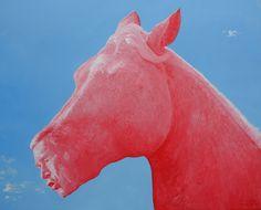 Red horse, 2005 work,  George W. Bush, No War