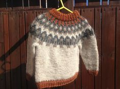 Icelandic sweater children sweater toddler sweater by Klettur Boys Sweaters, Warm Sweaters, Sweater Knitting Patterns, Hand Knitting, Drops Design, Icelandic Sweaters, Toddler Sweater, Robin, Sweater Making