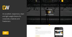 DW - Creative One Page Parallax Wordpress Theme by wow_themes    DW is a one page Wordpress theme that you can use for your business. Features: A New Distinguished Design Free Premium plugi