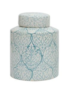 Blue & White Decorative Ceramic Ginger Jar with Lid – Ferry-Morse Home Gardening, 202 S Washington St., Norton MA 02766