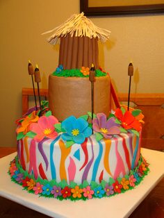 Luau Cake by umhum1, via Flickr @Janette Mayne Mayne m , for Danika's birthday!