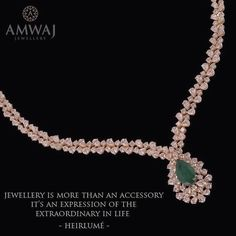 """Amwaj Jewellery is more than just a luxurious accessory...its an expression of the """"extraordinary in life"""""""