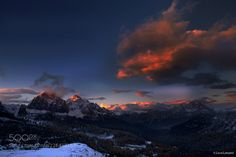 Dolomites Sunset by luca-lanzani. Please Like http://fb.me/go4photos and Follow @go4fotos Thank You. :-)