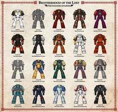 Brotherhood of the Lost Warhammer 40k Memes, Warhammer 40000, Space Marine, Miniaturas Warhammer 40k, Marine Colors, Gundam Wallpapers, Imperial Fist, War Hammer, Character Sheet