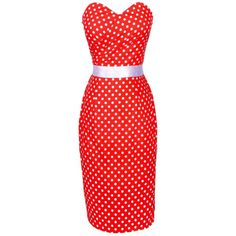 Maggie Tang Women's 1950s Vintage Pencil Dress ($40) ❤ liked on Polyvore