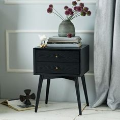 Black Nightstand Old Style