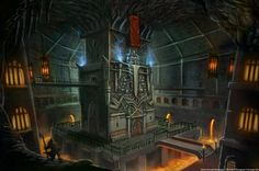 An underground prison dungeon meant to keep and torture villainous criminals . Ruled by a demonic dungeon king