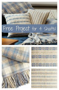 This free eBook gives you all the skills you need to quickly and successfully weave a variety of cute throws, including this extra fuzzy combination! #weaving #diydecor
