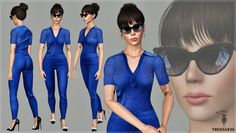 Blue knitted jumpsuit by Artsims - Sims 3 Downloads CC Caboodle