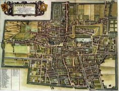 Map of The Hague, Netherlands, by J. Blaeu (1650), used for The Warlock & the Wolf