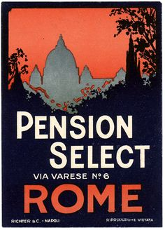 Pension Select, via Varese no6, Rome.