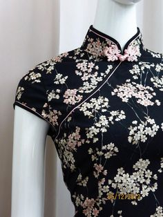 Spring 2013. Classic cheongsam dress in exquisite Japanese cotton fabric.