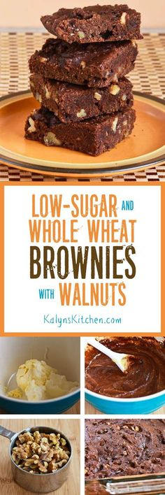 Delicious Low-Sugar and Whole Wheat Brownies (and a memory of the lovely woman who shared the original recipe.) [KalynsKitchen.com]