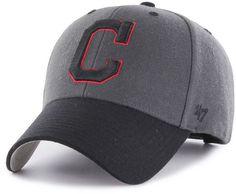 63e939b5f71  47 Brand Cleveland Indians 2Tone Charcoal Black Pop MVP Cap   Reviews -  Sports Fan Shop By Lids - Men - Macy s