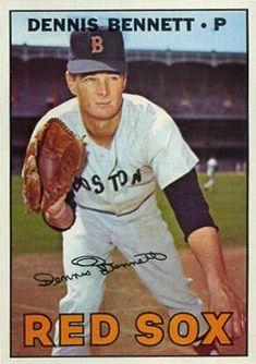 0bf636398085d 206 Dennis Bennett 1967 Topps Red Sox Baseball