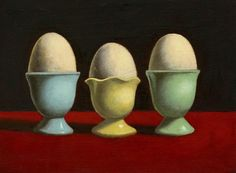 Vintage Egg Cup Still Life by Lisa Zador