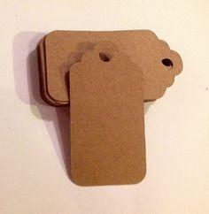 20 x kraft card tags by ArtByBoCanvas on Etsy, £2.00