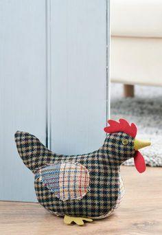 Tweed Chicken Doorstop