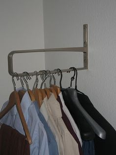 Good idea for clothes hanger storage in my laundry room