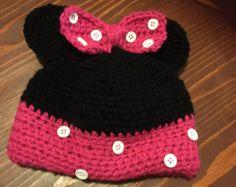 Sombrero del ganchillo de Minnie Mouse por crochetcraftsbylele