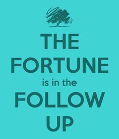 Image result for fortune is in the follow up avon