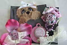 ELITE4U Suz Premade Shabby Tear Bear Paper Piecing 4 Easle Card Topper Layout | eBay
