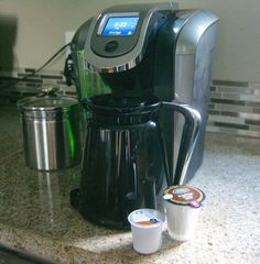The new Keurig 2.0 - brew a cup OR a carafe! #helloKeurig  I was given the Keurig 2.0 compliments of #Influenster to review