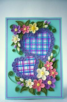 Valentine Quilling Card Valentine's Day quilling by QuillyVicky