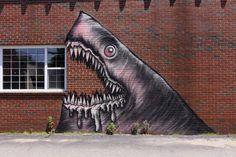 Shark graffiti