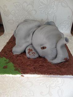 Baby Elephant - Cake by Carol