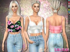 The Sims Resource: 250 - Party layered top by sims2fanbg • Sims 4 Downloads